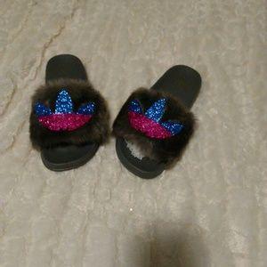 Custom fur slippers